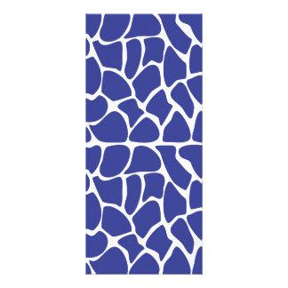 Giraffe Pattern. Dark Blue. Rack Cards