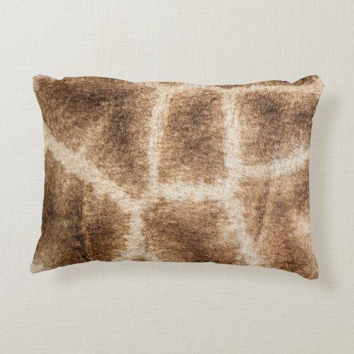Giraffe pattern decorative pillow Zazzle