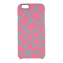 Giraffe Pattern Fuchsia Clear iPhone 6/6S Case
