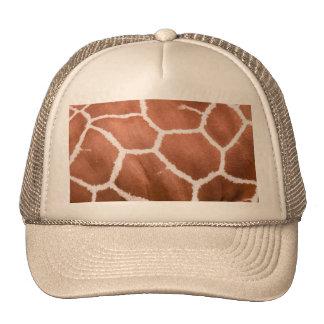 Giraffe pattern hat