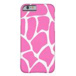 Giraffe Pattern in Bright Pink. iPhone 6 Case