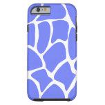 Giraffe Pattern in Cornflower Blue. Tough iPhone 6 Case