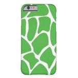 Giraffe Pattern in Jungle Green. iPhone 6 Case