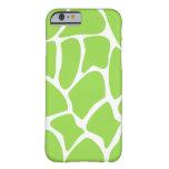 Giraffe Pattern in Lime Green. iPhone 6 Case