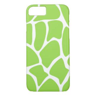 Giraffe Pattern in Lime Green. iPhone 7 Case