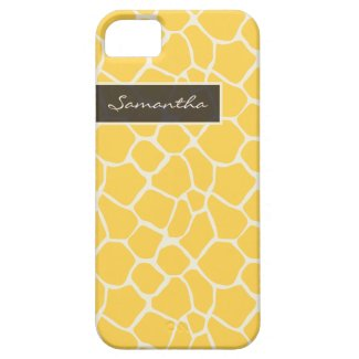 Giraffe Pattern iPhone 5 Case-Mate Case (yellow)