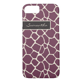 Giraffe Pattern iPhone 7 Case (purple)