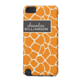 Giraffe Pattern iPod Touch Case (orange)