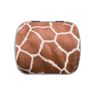 Giraffe pattern jelly belly candy tins