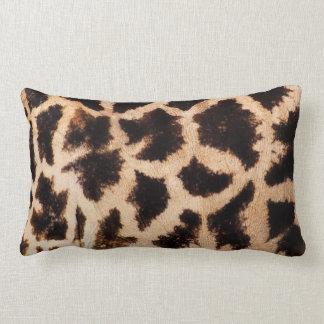 Giraffe pattern lumbar pillow