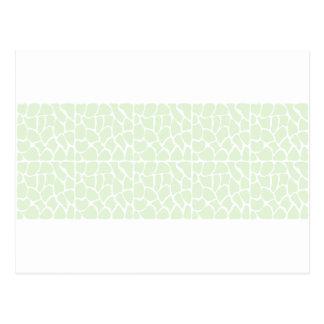 Giraffe Pattern. Mint Green. Post Cards