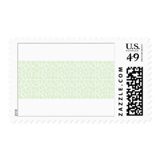 Giraffe Pattern. Mint Green. Postage Stamps
