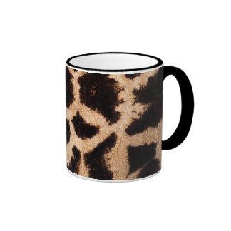 Giraffe pattern ringer coffee mug