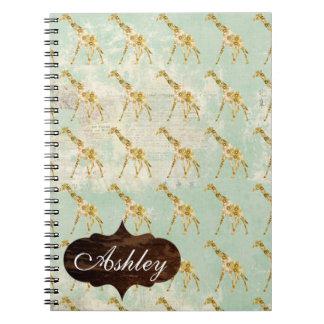 Giraffe  Pattern Notebook