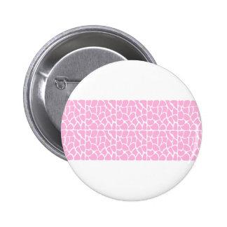 Giraffe Pattern. Pale Pink. 2 Inch Round Button