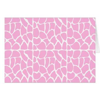 Giraffe Pattern. Pale Pink. Cards