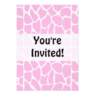Giraffe Pattern. Pale Pink. Custom Invite