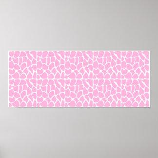 Giraffe Pattern. Pale Pink. Poster