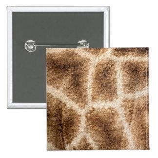 Giraffe pattern pinback button