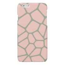 Giraffe Pattern Pink Glossy iPhone 6 Case