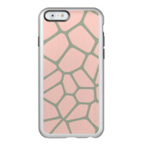 Giraffe Pattern Pink Incipio Feather Shine iPhone 6 Case