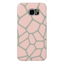 Giraffe Pattern Pink Samsung Galaxy S6 Case