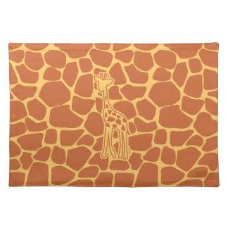 Giraffe pattern placemat cloth placemat