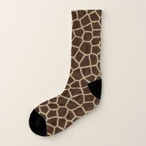 Giraffe Pattern Print Socks