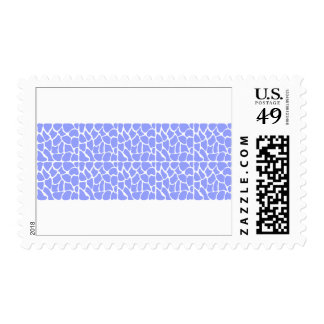 Giraffe Pattern. Sky Blue. Postage