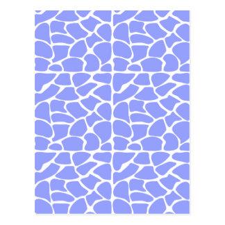 Giraffe Pattern. Sky Blue. Postcards