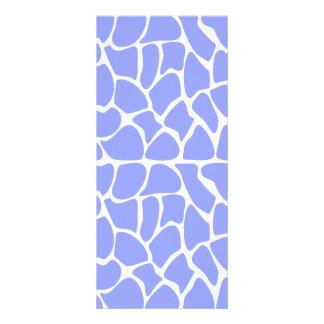 Giraffe Pattern. Sky Blue. Rack Cards