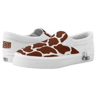 Giraffe pattern Slip-On sneakers