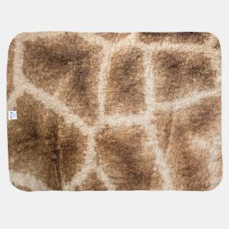 Giraffe pattern stroller blanket