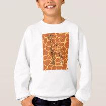 Giraffe pattern sweatshirt