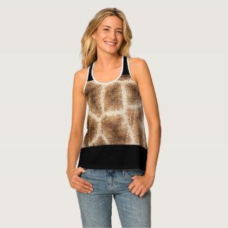 Giraffe pattern tank top