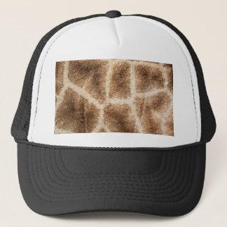 Giraffe pattern trucker hat