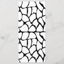 Giraffe Pattern. White and Black.