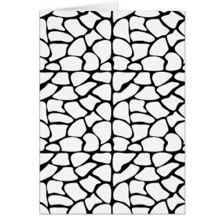 Giraffe Pattern. White and Black. Card