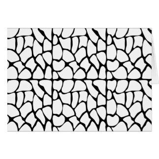 Giraffe Pattern. White and Black. Greeting Cards