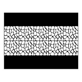 Giraffe Pattern. White and Black. Postcards
