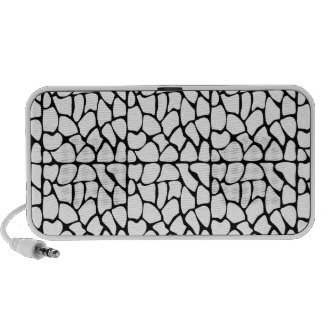 Giraffe Pattern. White and Black. Laptop Speakers