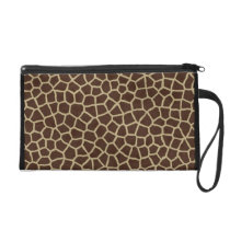 Giraffe Pattern Wristlet Purse