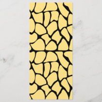 Giraffe Pattern. Yellow & Black.