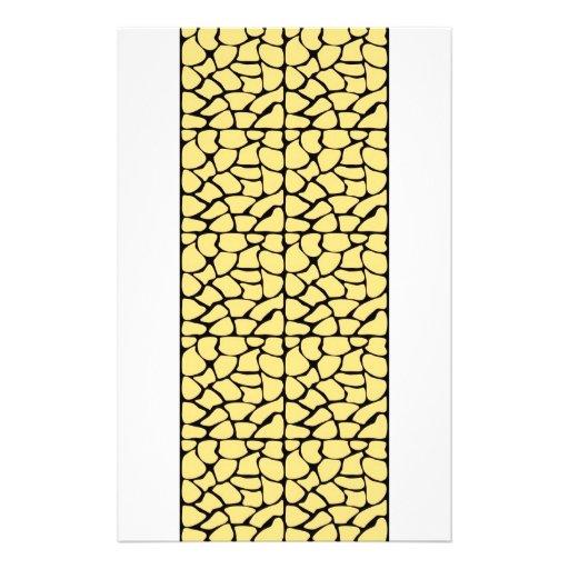 "Giraffe Pattern. Yellow & Black. 5.5"" X 8.5"" Flyer"