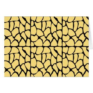 Giraffe Pattern. Yellow & Black. Greeting Card