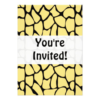 Giraffe Pattern. Yellow & Black. Invites