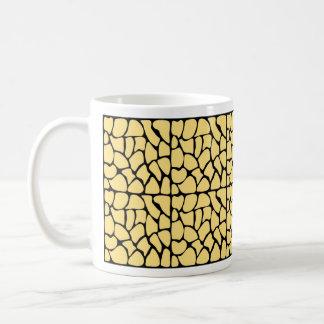 Giraffe Pattern. Yellow & Black. Coffee Mugs