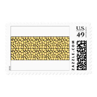Giraffe Pattern. Yellow & Black. Postage Stamps