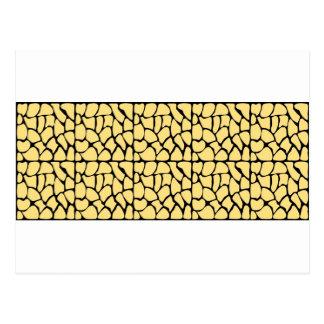 Giraffe Pattern. Yellow & Black. Postcards