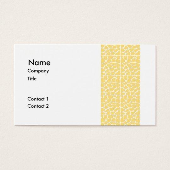 Giraffe Pattern. Yellow. Business Card